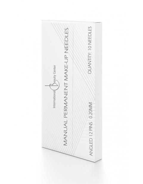 Manualinio permanentinio makiažo adatėlės 0.20mm (12 pins)