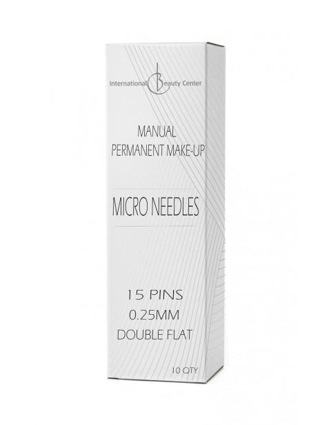 Manualinio permanentinio makiažo adatėlės (Dvigubos-Kirstos)